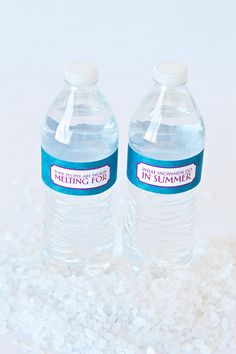 Water Botlte Wraps Inspired by Frozen Birthday by pagingsupermom