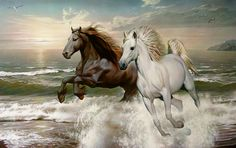 Your place to buy and sell all things handmade : Horse Cross Stitch Pattern Counted Cross Stitch Cross Cross Stitch Sea, Cross Stitch Animals, Horse Drawings, Photorealism, Horse Pictures, Horse Art, Wild Horses, Animal Paintings, Oil Painting On Canvas