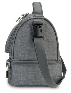 Amazon.com: LunchBots Duplex Insulated Lunch Bag - Dual Section Design Fits LunchBots Uno, Duo, Trio, Quad, Rounds, Bento Cinco Perfectly - Roomy Thermal Lunch Bag for Kids and Adults - Gray: Kitchen & Dining