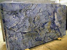 Azul Bahia Granite Slab, Brazil Blue Granite from China - StoneContact.com