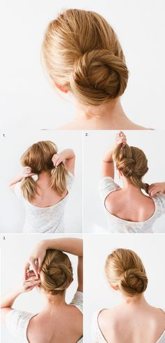Quick to Make Knot and Twist Bun