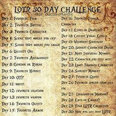 LOTR 30 Day Challenge