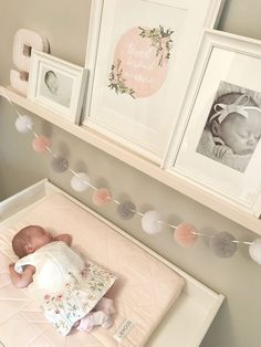 Baby Girl Nursery Room İdeas 466685580132112819 - Baby Sienna's Nursery Reveal Source by laurabeleza Baby Nursery Decor, Baby Bedroom, Baby Decor, Nursery Room, Girls Bedroom, Nursery Pom Poms, Baby Nursery Ideas For Girl, Bedrooms, Baby Zimmer