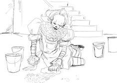 Cute Clown, Pennywise The Dancing Clown, Chapter One, Horror, Base, Cartoon, Manga, Fantasy Art, Manga Anime