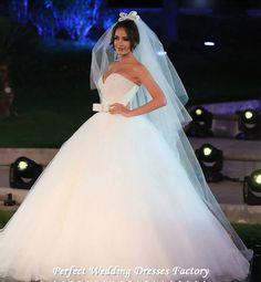 9024 2016 rendas branco marfim A - linha vestidos de casamento para noivas vestido plus size maxi formais cliente fez com trem tamanho 2 - 28 W alishoppbrasil