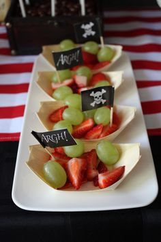 Pirate Party- healthy choice...could do it in tumbler cups too- I think the flag…