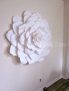 micheletremblay.com,beautiful 4 foot flower crafted from imported french drawing paper. Simply luxurious and lovely.