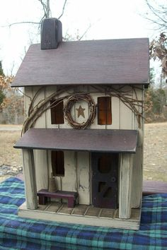 Primitive Amish Lighted Farmhouse w/ porch Folk by GooseberryCreek, $59.95