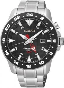 SEIKO Kinetic GMT Herren Uhr 5M85 SUN015P1