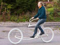 Here's an unusual bike.  Hmmmm . . .
