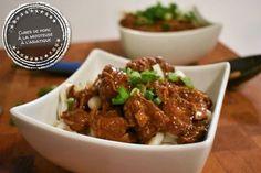 Cubes de porc à la mijoteuse à l'asiatique - Auboutdelalangue.com (6) Pork Recipes, Slow Cooker Recipes, My Recipes, Asian Recipes, Crockpot Recipes, Dessert Recipes, Favorite Recipes, Ethnic Recipes, Beignets