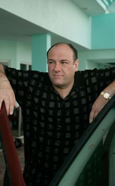 James Gandolfini - The Sopranos TV show made Gandolfini famous. His acting was dead on! This Emmy winner's career was on a path to greatness when he died at 51 of a sudden heart attack while on vacation with his family in Italy Tony Soprano, Os Sopranos, Vanity Fair, Cast Images, Steve Buscemi, Men Are Men, Hollywood Men, Great Tv Shows, Tv Guide