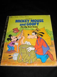 Little Golden Books Mickey Mouse and Goofy by HECTORSVINTAGEVAULT, $1.99