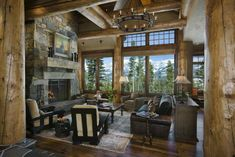 Here is an exceptional home where you can enjoy the refreshing natural atmosphere of the mountain forest. This home, designed by Reidsmith Architects, was built using huge polished lumber from...