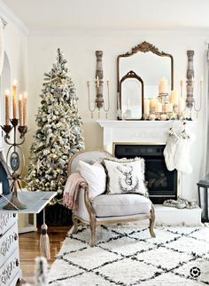 Modern French Christmas Classic Everything dreamy and magical! Visit me @thecultivatedhome on Instagram