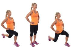 Reduce Weight Alternating-Forward-Lunges_Exercise - There's a reason those yoga poses make you sweat--they're isometric movements designed to build muscle. Here's your 15 minute isometric workout! Leg Strengthening Exercises, Back Exercises, Weight Exercises, Training Exercises, Lose Weight At Home, Lose Weight Naturally, Reduce Weight, Losing Weight, Easy Workouts