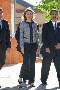 30 April 2014 Princess Letizia visited the Maria Moliner school in Madrid, Spain