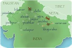 kaart India © Travelmarker Reizen