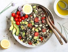 Quinoa Lentil Salad in bowl