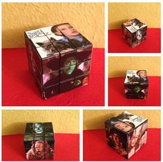 "Sher's altered ""Wizard of Oz"" Rubik's cube"