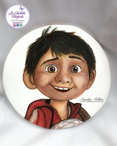 Coco movie - cookie by Sarahy Millán Paint Cookies, Scary Movies, All About Time, Hand Painted, Portrait, Artist, Kid, Sweet, Decorated Cookies