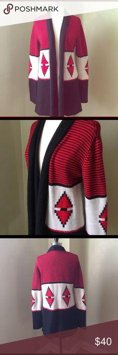 BB Dakota Long Aztec Sweater LOVE this warm and beautiful piece from BB Dakota! Size L but fits more like a Medium. Beloved winter piece! Open to offers. BB Dakota Sweaters Cardigans