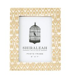 Shiraleah 9 by 7 by 0.5-Inch Loft Ikat Picture Frame, Small, Gold ** Read more  at the image link. (This is an affiliate link and I receive a commission for the sales)