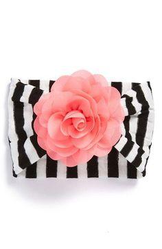 Baby Bling Chiffon Rose Stripe Headband