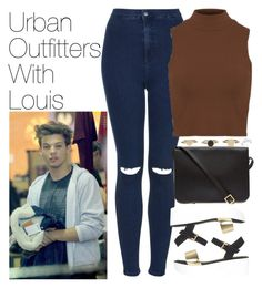 """""""Urban Outfitters with Louis"""" by onedirectionimagineoutfits99 ❤ liked on Polyvore featuring Topshop and Sophie Hulme"""