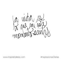 La vida es lo que en este momento sientes.  #InspirahcionesDiarias por @CandiaRaquel  Inspirah mueve y crea la realidad que deseas vivir en:  http://ift.tt/1LPkaRs