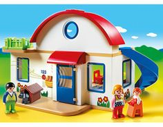 PLAYMOBIL Suburban Home Playset Make yourself comfortable in this warm and cozy Suburban Home. With a bright and colorful design and large, rounded pieces, this Black Friday Toy Deals, Suburban House, Shops, Two Story Homes, Imaginative Play, Dog Houses, Toys For Girls, Warm And Cozy, Shopping