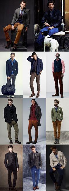 Men's Autumn/Winter Trouser Alternatives : Corduroys Lookbook Inspiration