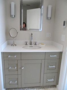 Want to do this to our master bath - Benjamin Moore's Raccoon Hollow 978 paint color