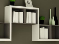 simple and decorative wall shelf design