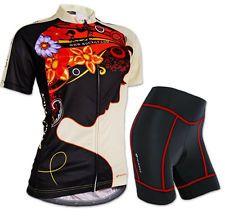 2015 Cycling Women girls Jersey + short Quick Dry Breathable Bike wear Size S-XL