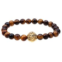 2015 Blue bead bracelet buddha bracelets paracord natural stone lion bracelet men pulseras hombre bracciali uomo mens bracelets | Price: US $2.95 | http://www.bestali.com/goto/32427461177/10