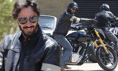 Motorbike enthusiast Keanu ♡♥ Reeves goes for a spin