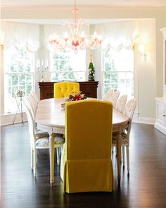 Yellow Velvet From Design Sponge Eclectic Dining RoomsLiving RoomsDining SetsDining