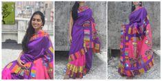 UDD PANCHI- patch work silk saree- limited edtion