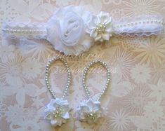 Items similar to Baby barefoot sandals, baby girl gift, flower girl, pageant, baptism gift, christening, barefoot sandals , photo prop on Etsy