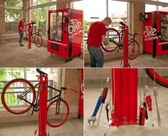 Bicycle Self-Repair Vening Machines - via Core77 - check the link ... sweet concept for places with heavy bike traffic!!