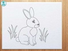 How to draw bunny - YouTube