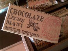 Chocolate con leche y maní
