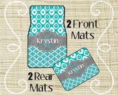 Custom Personalized Set of Car Mats  Front and by LittleGoddessBtq, $44.99