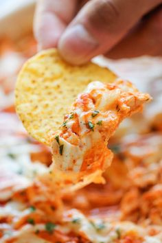 Buffalo Chicken Dip - Buffalo chicken wings turned into the easiest, creamiest, and cheesiest dip ever!
