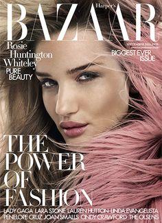 Rosie Huntington-Whitely Harpers Bazaar September 2014