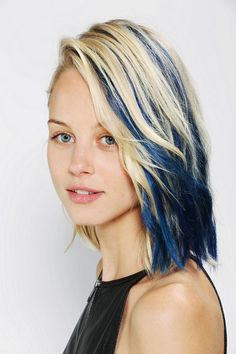 Midnight Blue and Blonde Hair Color 2017