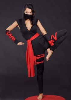 Adult Womens Sexy Gothic Ninja Costume Small UK 8-10 // & NOT Out of Stock! )) Deadly Ninja Catsuit u2013 Sexy Halloween Costume ...
