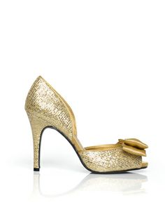 Emerald by ShoeMint.com. i have been wanting a pair of gold party shoes & these are whispering to me.