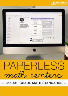 Access all upper elementary digital math centers when you join the Math Tech Membership. Paperless resources for grades 3, 4, and 5. Use the interactive math slides as math centers, auto-grading forms as assessments, and much more! This is a perfect way to integrate technology in the classroom. Workshop Organization, Math Workshop, Flipped Classroom, Math Classroom, Elementary Math, Upper Elementary, Google Classroom Tutorial, Technology Lessons, Third Grade Math